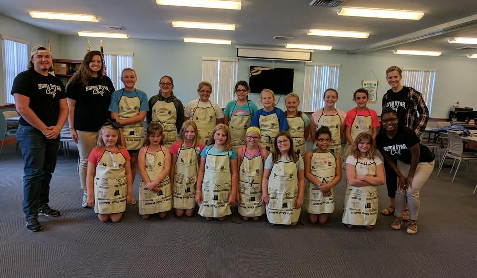 4-H Cooking Camp Participants